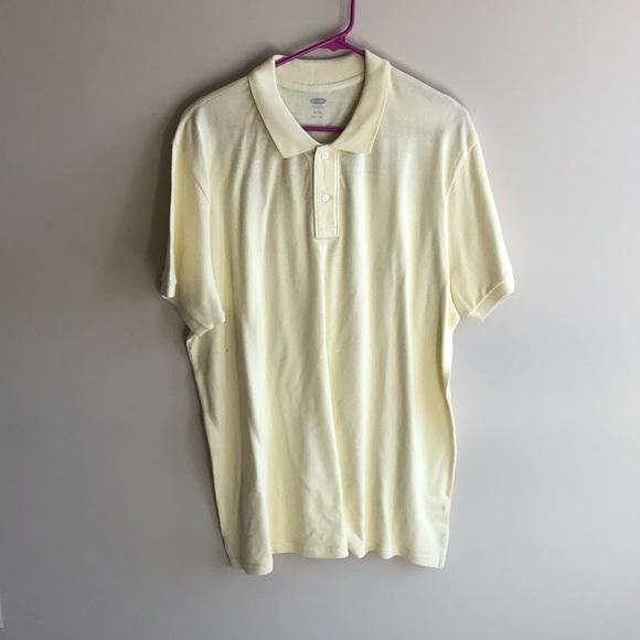 💜 Old Navy Men's Light Yellow Polo Shirt XL